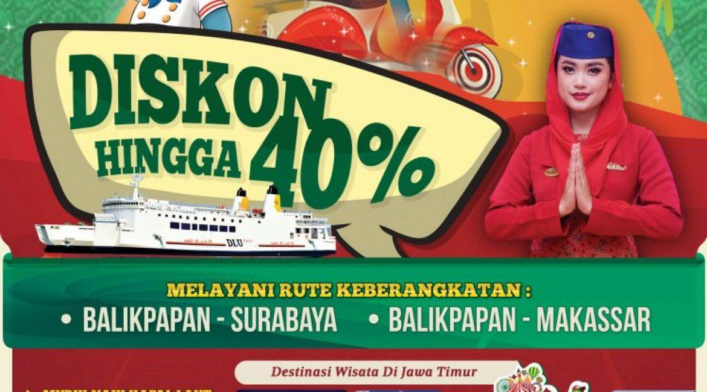 Ayoo Pulkam Pakai Sepeda Motor bersama kapal PT DLU dari beberapa kota di Kalimantan dan dapatkan Diskon hingga 40%
