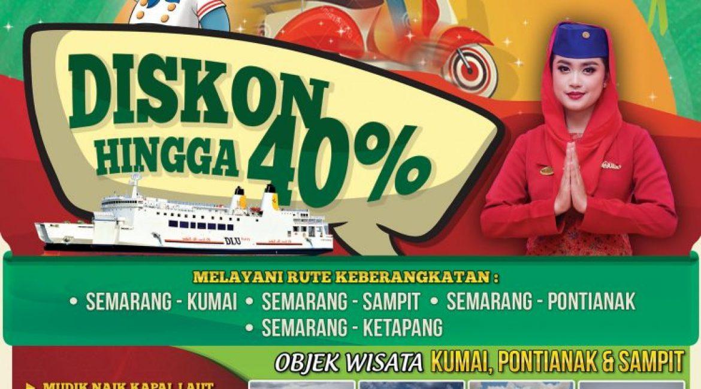 Mudik Pakai Sepeda Motor bersama kapal PT DLU dari Semarang & Surabaya Diskon hingga 40%