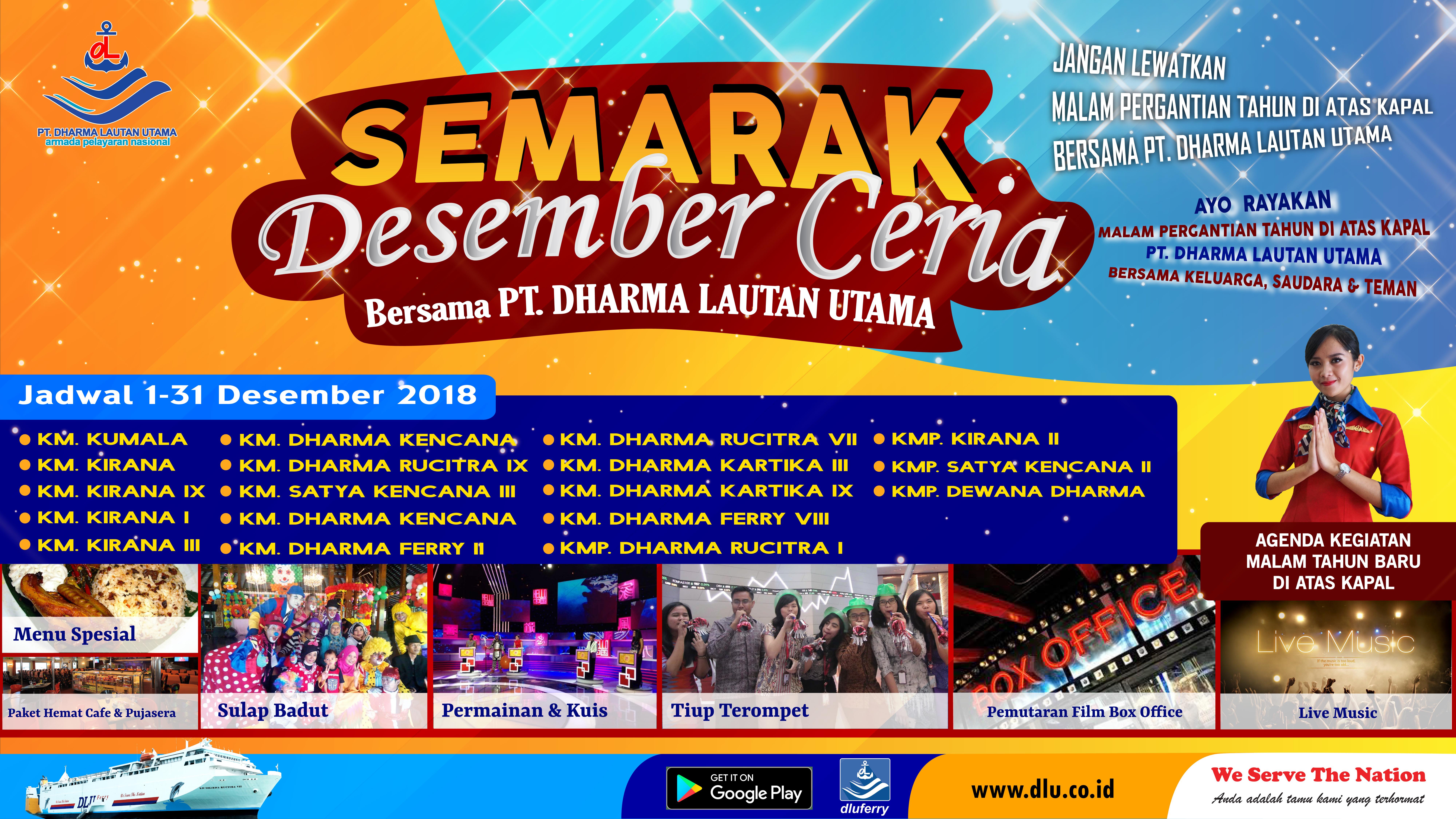 """Ayo Tahun Baruan """"Semarak Desember Ceria"""" bersama armada PT. Dharma Lautan Utama"""