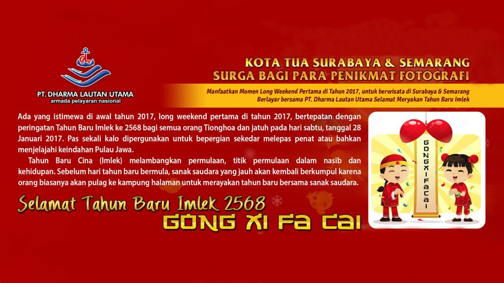 Rayakan Imlek bersama Armada PT. Dharma Lautan Utama