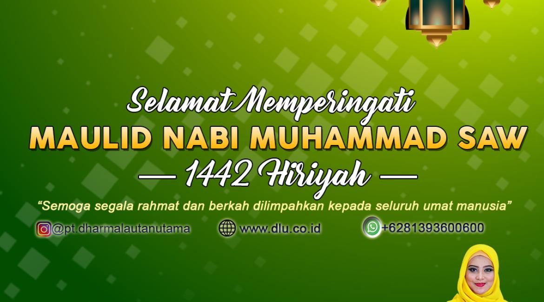 Rayakan Maulid Nabi Muhammad SAW di Kampung Halaman & tetap Melaksanakan Protokol Covid19  Bersama PT. Dharma Lautan Utama